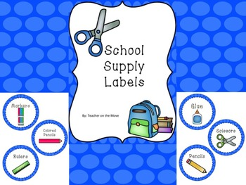 Bright Blue Circle Supply Labels
