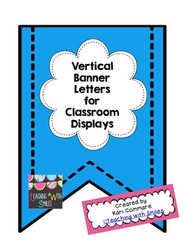 Bright Blue Vertical Banner Letters