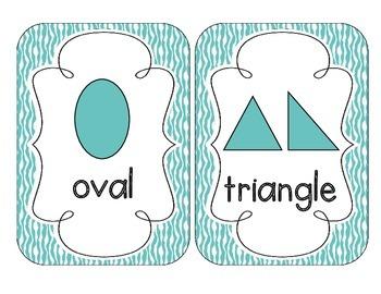 Bright Blue Zebra Print Shape Cards
