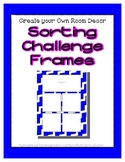 Bright Blue Sorting Mat Frames * Create Your Own Dream Cla
