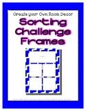 Bright Blue Sorting Mat Frames * Create Your Own Dream Cla