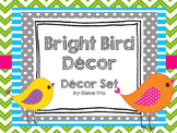 Bright Boho Bird Decor