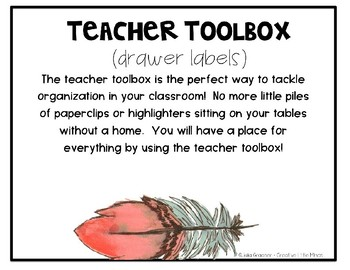 Bright Boho Chic Teacher Toolbox