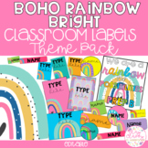 MODERN BRIGHT BOHO RAINBOW Editable Name Tags, Labels, Posters & Door Display