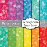 Bright Bokeh Digital Paper 1145