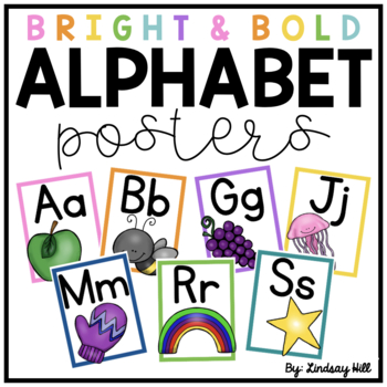 Bright & Bold Alphabet Posters