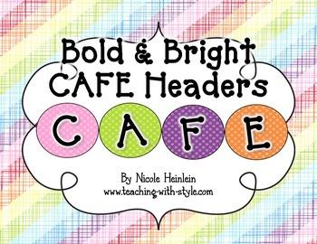 Bright & Bold CAFE Headers {CAFE FREEBIE}