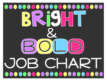 Bright & Bold Classroom Job Chart