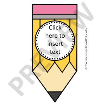 EDITABLE Pencil Banner Set
