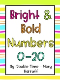 Bright & Bold Number Posters 0-20