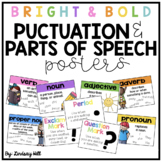 Bright & Bold - Punctuation & Parts of Speech Posters