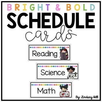 Bright & Bold Schedule Cards