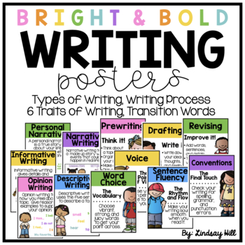 Bright & Bold Writing Posters