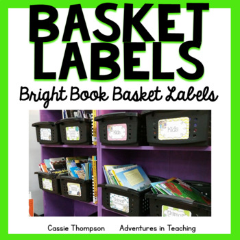 Bright Book Basket Labels for your Classroom Library (EDITABLE)