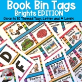 Bright Book Bin Tags (Leveled and Thematic)