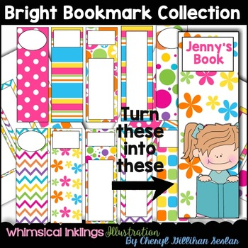 Bright Bookmark Clipart Collection