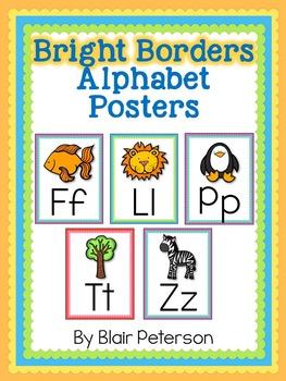 Bright Borders Alphabet Posters
