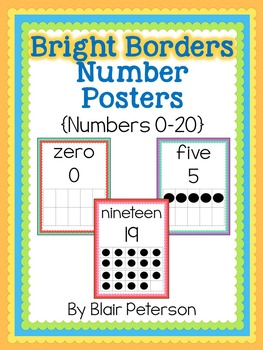 Bright Borders Number Posters {Numbers 0-20}
