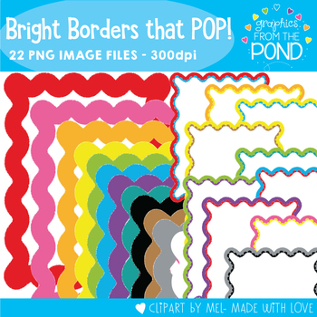 Bright Borders that Pop - Clipart Frames for Teaching Files