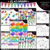 Bright Clip Art Bundle (5 Sets) - Birds, Butterflies, Flowers