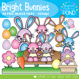 Bright Bunnies - Easter Clipart for Teachers and Teaching