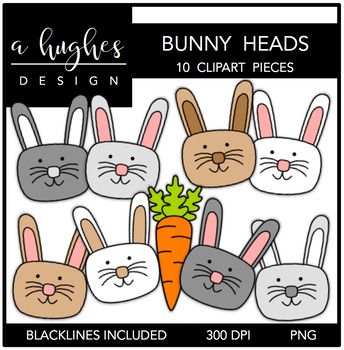 Bunny Heads Clipart