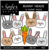 Bunny Heads {Graphics for Commercial Use}