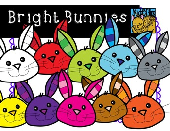 Bright Bunny Spring Clip Art by Kid-E-Clips Commercial and Personal Use