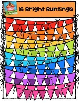 Bright Buntings {P4 Clips Trioriginals Digital Clip Art}