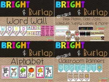 Bright & Burlap Class Decor Bundle