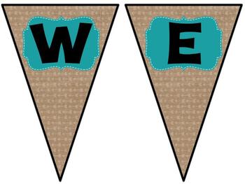 Bright & Burlap Classroom Decor Editable Banners