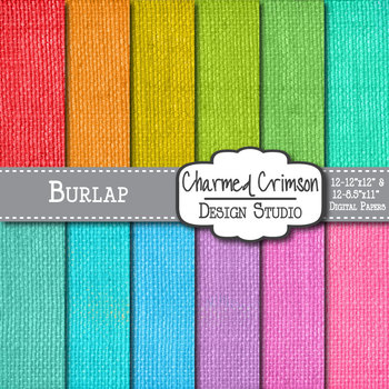 Bright Burlap Digital Paper 1380