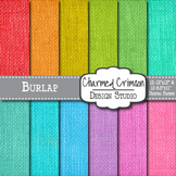 Bright Burlap Digital Paper 1380