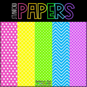 Digital Papers - Bright Neon {44 backgrounds for personal & commercial use}