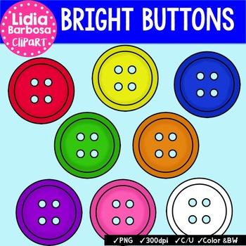 Bright Buttons { Clip Art for Teachers }