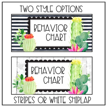 Bright Cactus Behavior Chart