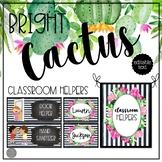 Bright Cactus EDITABLE Job Chart
