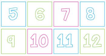 Bright Calendar Cards- Editable