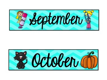 Bright Calendar Labels