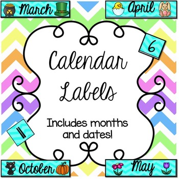 Bright Calendar Labels