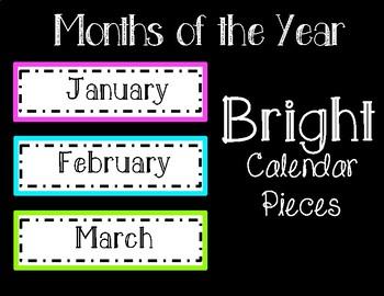 Bright Calendar Months