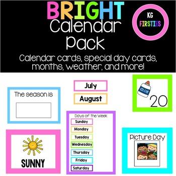 Calendar Set- Bright Edition