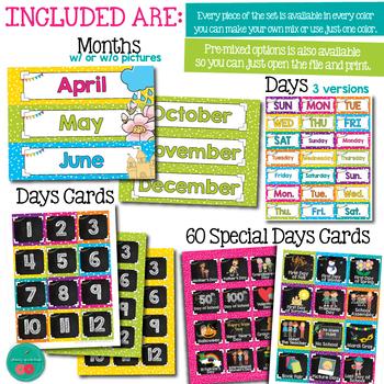 Bright Calendar Set