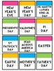 Bright Calendar Squares - Editable Calendar Squares