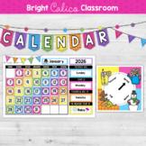 Classroom Calendar Set  {Bright Calico Classroom}
