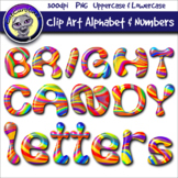 Bright Candy Clip Art Alphabet Letters