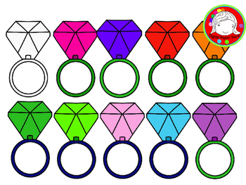 Bright Candy Rings Clipart (Personal & Commercial Use)