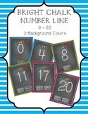 Bright Chalk 0-20 Number Line