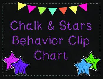 Bright Chalk & Star Behavior Clip Chart