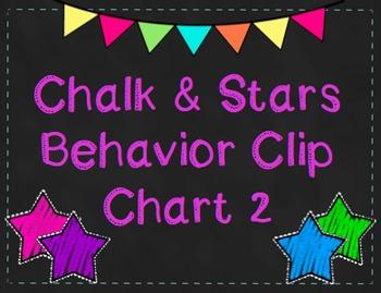 Bright Chalk & Star Behavior Clip Chart 2